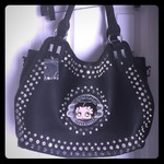 Poshmark Black Betty Boop bag with studs and rhinestones