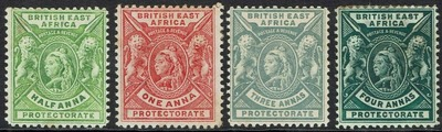 BRITISH EAST AFRICA 1896 - 1901 QV LIONS RANGE TO 4A, Ebay, США