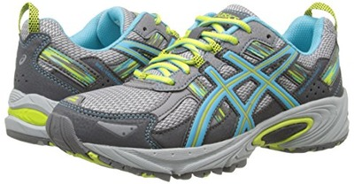 ASICS Women's Gel-Venture 5 Running Shoe, Silver Grey/Turquoise/Lime Punch, 10 M US, Amazon, США