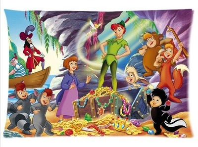 "Accurate Store American animated fantasy-adventure film Peter Pan Zippered Pillow case Covers Standard Size 20""x30"" (one side), Amazon, США"