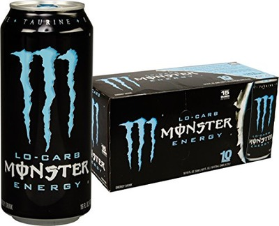 Monster Energy, Lo-Carb, 16 Ounce (Pack of 20), Amazon, США