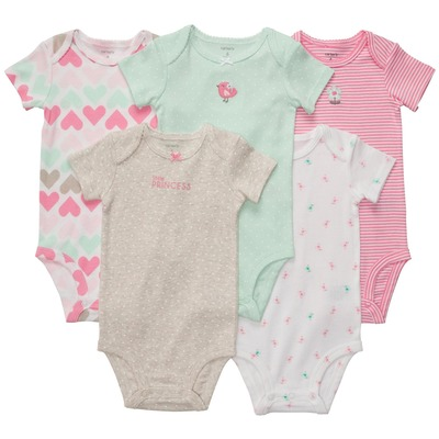 Short-Sleeve 5-Pack Bodysuits, Carters, США