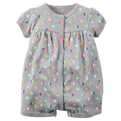 Snap-Up Cotton Romper, Carters, США