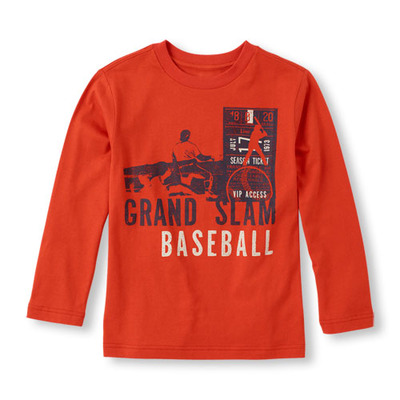 Long Sleeve 'Grand Slam Baseball' Graphic Tee, ChildrensPlace, США