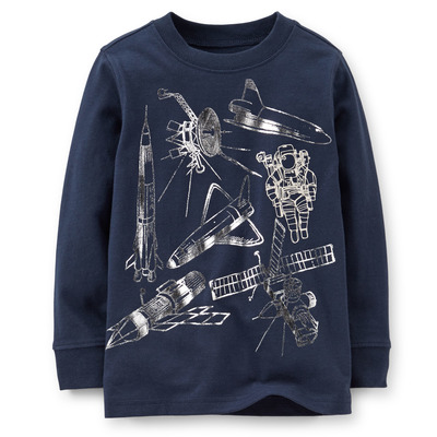 Spaceship Shimmer Tee, Carters, США