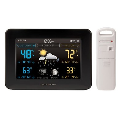 AcuRite 02027A1 Color Weather Station with Forecast/Temperature/Humidity, Dark Theme, Amazon, США