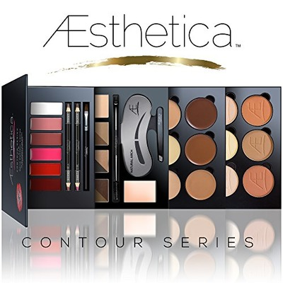 Aesthetica Cosmetics Contour Series - Contouring and Highlighting Library Set - Includes Aesthetica Cream, Powder, Brow & Lip Contour Kits - Suitable for All Skin Tones - Vegan & Cruelty Free, Amazon, США