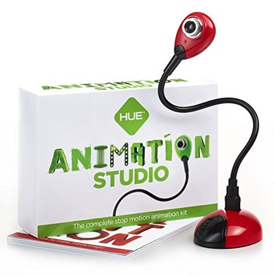 HUE Animation Studio (Red) for Windows PCs and Apple Mac OS X: complete stop motion animation kit with camera, software and book, Amazon, США