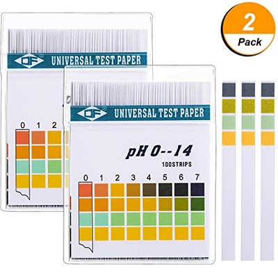 Hicarer Universal pH Test Paper Strips for Test Body Acid Alkaline pH Level, Skin Care, Aquariums, Drinking Water, with 4 Testing Panels for Increased Accuracy, Measure Full Range 0-14, Amazon, США