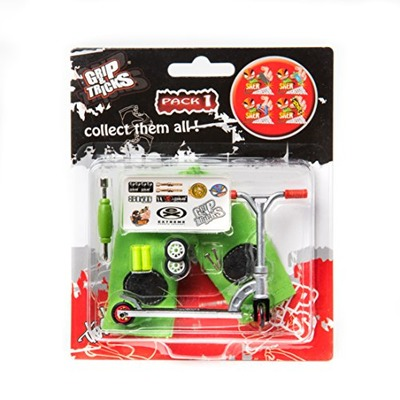 Scooter M7-Grip and Tricks - Finger SCOOTER - Skate - Pack1 - Silver/Red, Amazon, США
