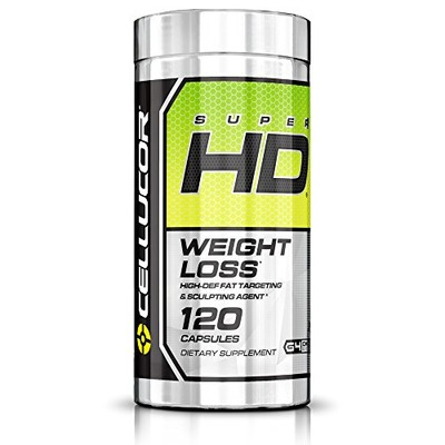 Cellucor Super HD Thermogenic Fat Burner Supplement for Weight Loss, 120 Capsules, Amazon, США