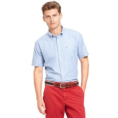 CLASSIC FIT OXFORD SHORT SLEEVE SHIRT, TommyHilfiger, США