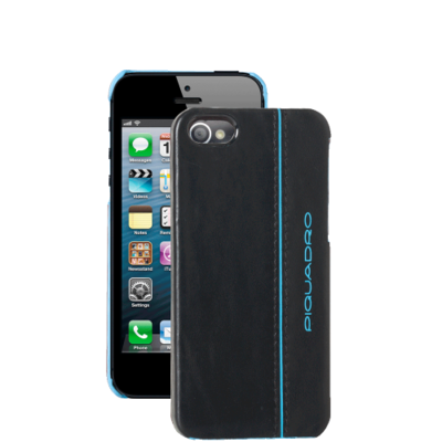 Leather shell for iphone® 5 Blue square, Piquadro, Италия