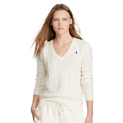 Wool Blend V-Neck Sweater, RalphLauren, США