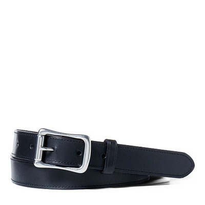 LEATHER ROLLER-BUCKLE BELT, RalphLauren, США