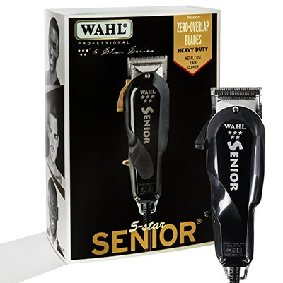 Wahl Professional 5 Star Series Senior Clipper #8545 – Great for Professional Stylists and Barbers – V9000 Electromagnetic Motor – Black -Aluminum metal bottom housing, Amazon, США