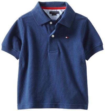 Tommy Hilfiger Big Boys' Short Sleeve Ivy Polo Shirt,Velvet Blue,X-Large(20), Amazon, США