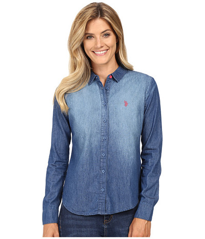 U.S. POLO ASSN. Long Sleeve Denim Shirt, 6pm, США