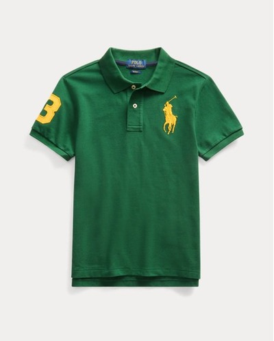 Slim Fit Cotton Mesh Polo, RalphLauren, США