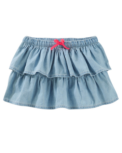 TIERED CHAMBRAY SKIRT, Carters, США