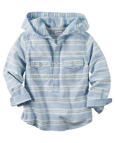 Hooded Button-Front Popover Shirt, Carters, США