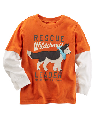 Toddler Boy Long-Sleeve Layered-Look Rescue Wilderness Graphic Tee | Carters.com, Carters, США