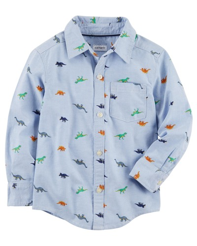 Toddler Boy Dinosaur Oxford Button-Front Shirt | Carters.com, Carters, США