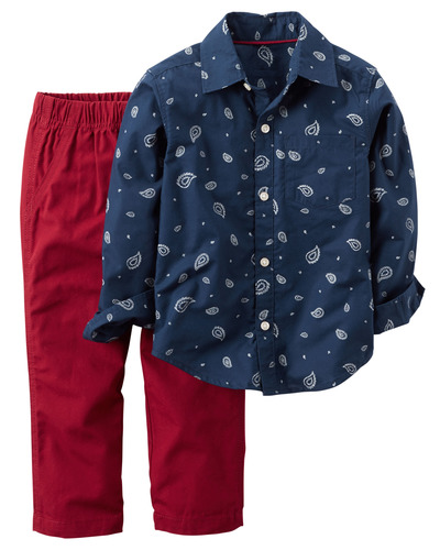2-Piece Button-Front Top & Canvas Pant Set, OshKosh, США