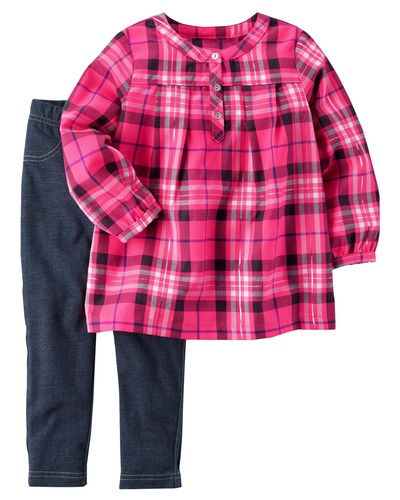 2-Piece Plaid Flannel & Jegging Set | Carters.com, Carters, США