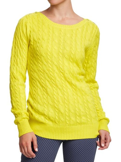 Women's Cable Boat-Neck Sweaters, OldNavy, США