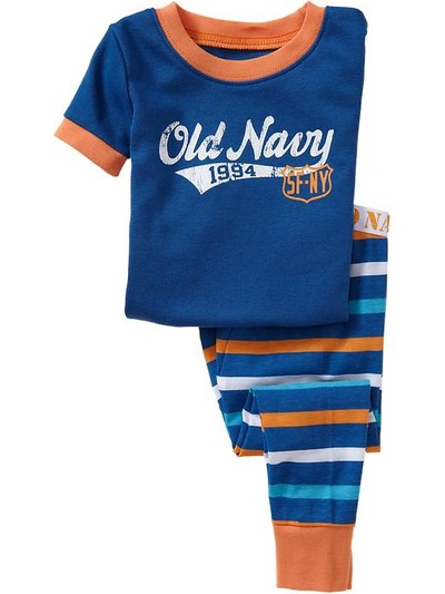 Team-Style Logo PJ Sets for Baby, OldNavy, США