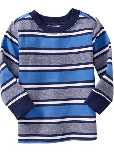 Long-Sleeve Striped Tees for Baby, OldNavy, США