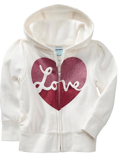 Heart Graphic Jersey Fleece Hoodies for Baby, OldNavy, США
