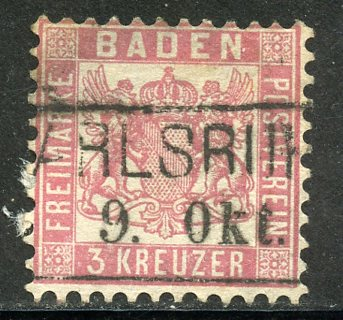 Baden # 20, Used, HipStamp, США