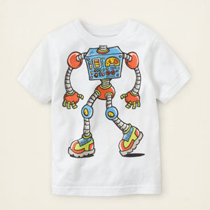 robot head graphic tee, ChildrensPlace, США