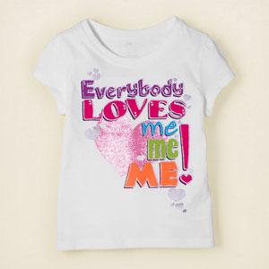 love me graphic tee, ChildrensPlace, США