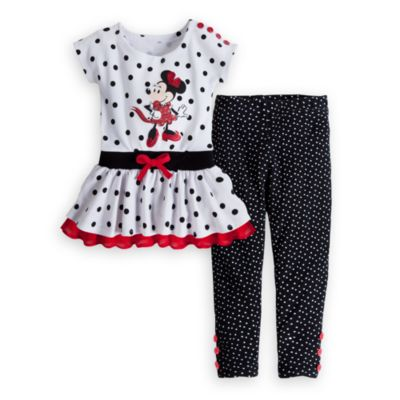Minnie Mouse White Knit Dress and Leggings Set for Girls, DisneyStore, США