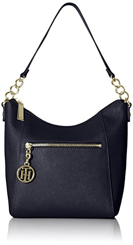 Tommy Hilfiger Sharon Text Leather Hobo Bag, Amazon, США