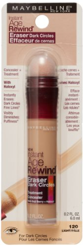 Maybelline New York Instant Age Rewind Eraser Dark Circles Treatment Concealer, Light 120, 0.2-fluid Ounce, Amazon, США