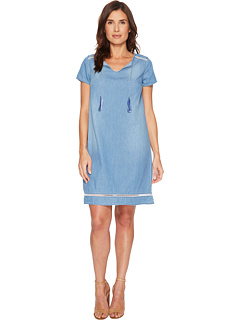 U.S. POLO ASSN. Short Sleeve Denim Tassel Dress, 6pm, США