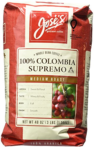 Jose's Whole Bean Coffee Columbia Supremo 3 Lbs, Amazon, США