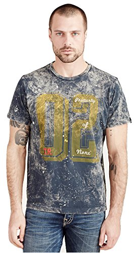 True Religion Men's 02 Tie Dye Tee T Shirt in Jet Black (XX-Large, Jet Black), Amazon, США
