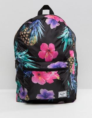 Herschel Supply Co Packable Backpack in Tropical Pineapple Print, Asos, США