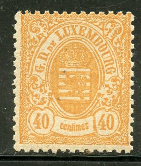 Luxembourg # 38, Mint Hinge. CV $ 1.60, HipStamp, США