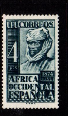 Spanish West Africa - #1 Native - MLH, HipStamp, США