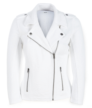 Cropped French Terry Asymmetrical-Zip Moto Jacket, Aeropostale, США